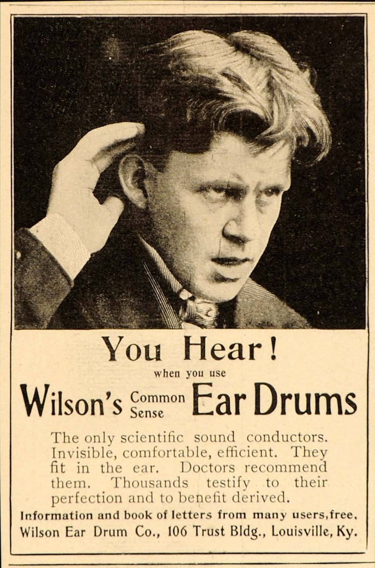 Everyone needs Wilson's Common Sense Ear Drums.