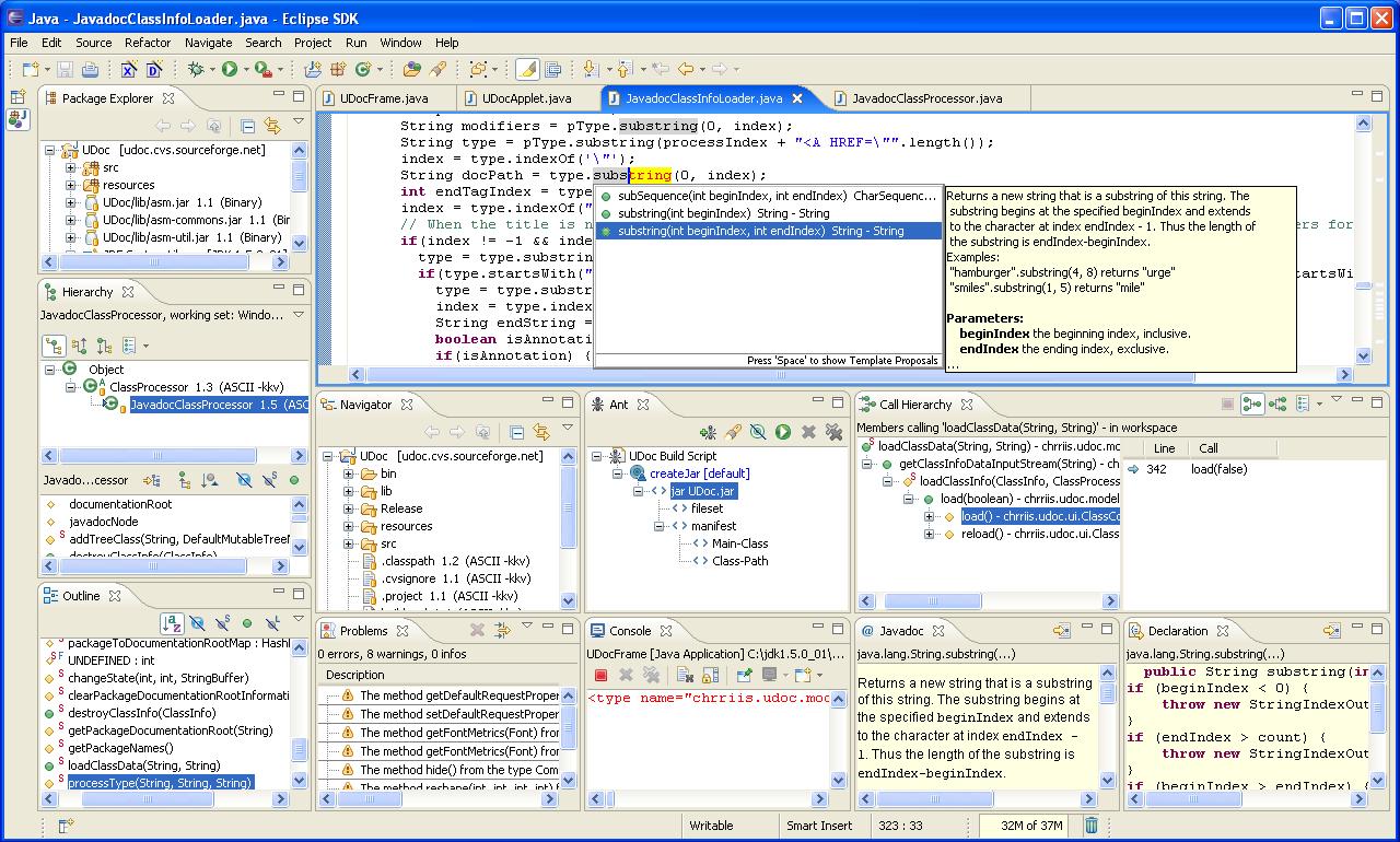 A totally representative screenshot of an IDE.